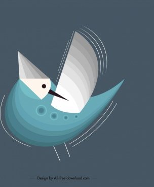 bird background sparrow icon motion design classical decor