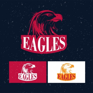 bird logotype eagle silhouette design