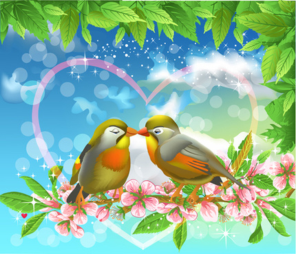bird lovers design vector graphic