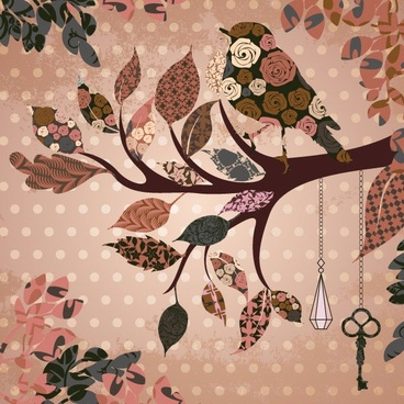 bird pattern vector 3