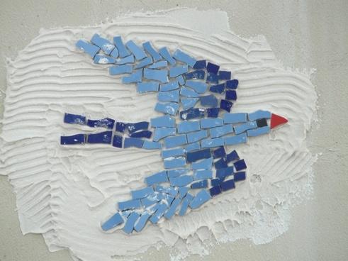 bird schwalbe mosaic