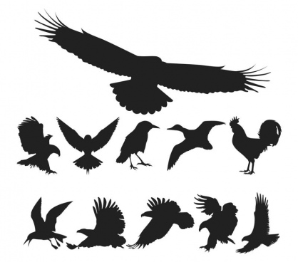 birds silhouette vector pack free cdr vectors art