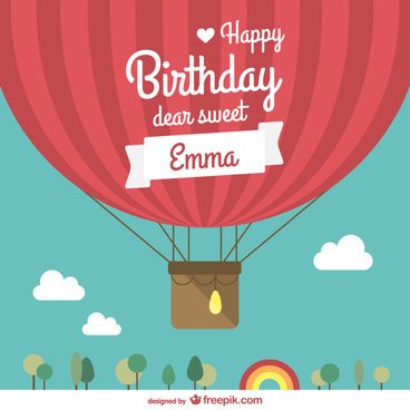 birthday and flags balloon vector background