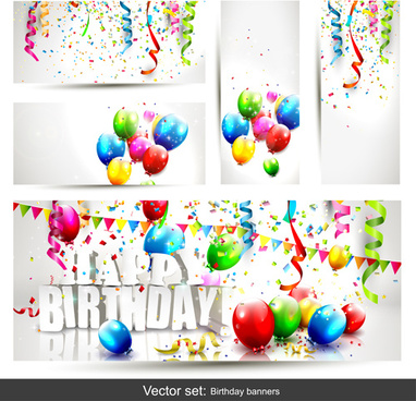 kids birthday banner design free vector download 12 060 free vector