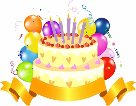 Birthday Cake Free Vector Download 1697 For