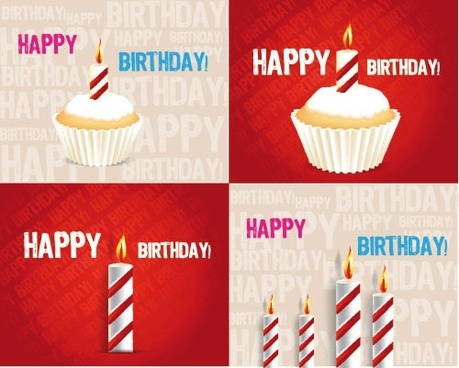 birthday cake candle tarts birthday vector