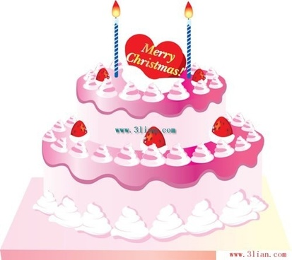 birthday cake candles vector