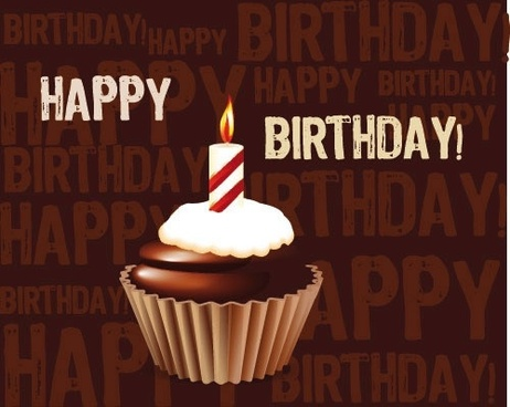 birthday cake candles vector