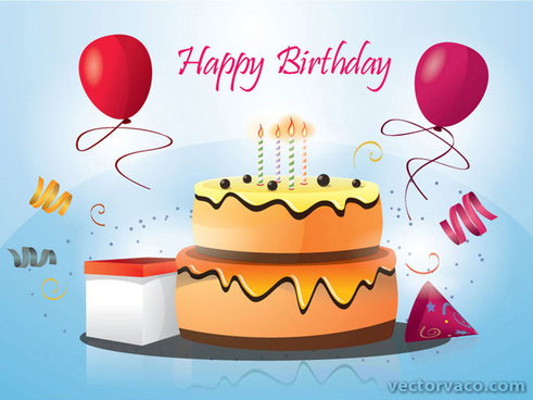birthday cake vector set