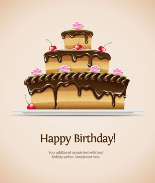 Birthday Card 02 Vector