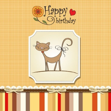 birthday card 03 vector