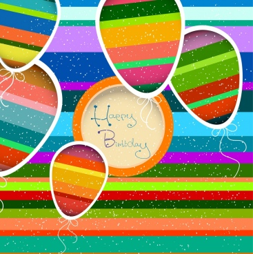 birthday card background colorful lame balloons decoration