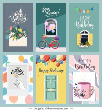 birthday card templates elegant classic themes decor