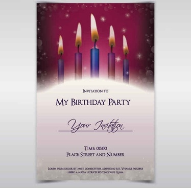 Birthday Invitations vector background