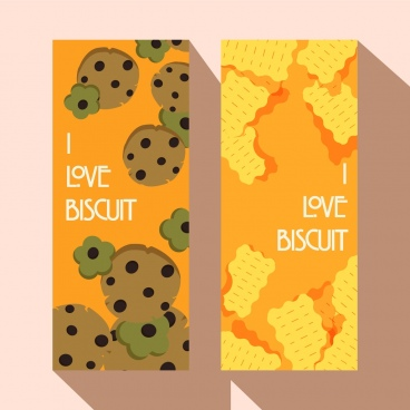 biscuit advertising banners vertical orange decor