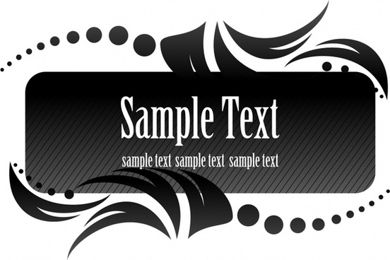 text box template elegant dark symmetric swirled decor
