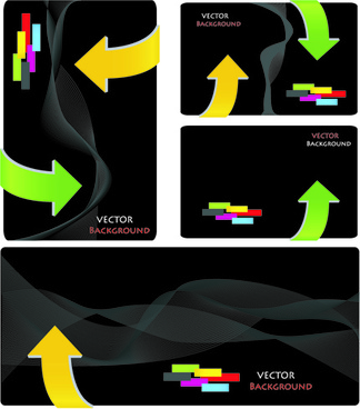 black and color business card elements vector