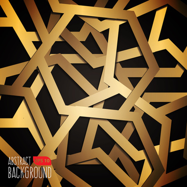 black and gold background in geometric style