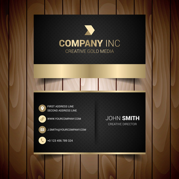 black and gold elegant business card