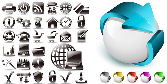 black and white and three dimensional icon vector
