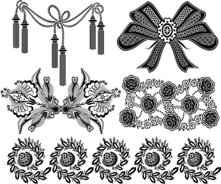 black and white bow vector patterns patterns