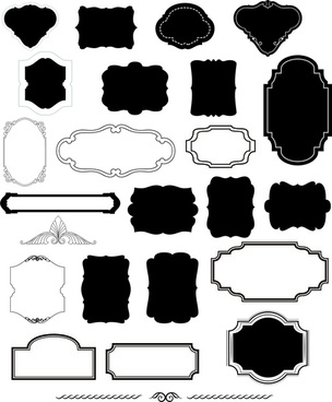 black and white classical frames sets