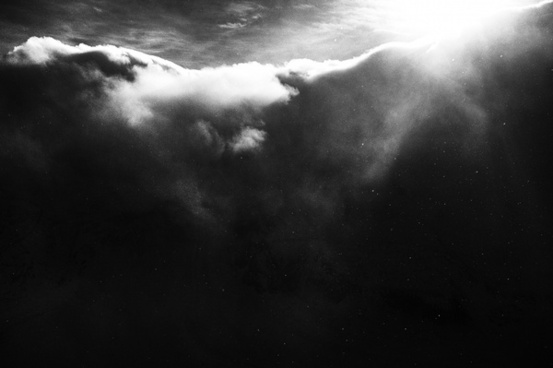 black and white cloud cloudy dark fog landscape