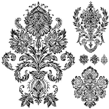 black and white decorative pattern free vector