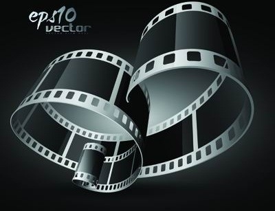 black and white film clip art 3d 1