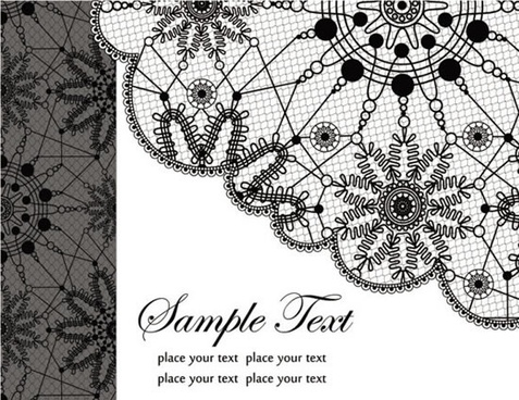 black and white floral design patterns vector