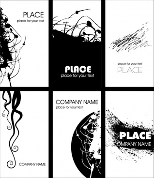 business card templates black white grunge decor