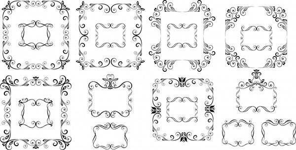 frame templates classical symmetric seamless decor