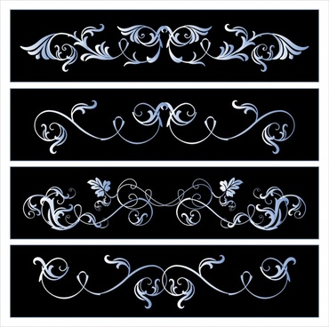 document decorative templates elegant european seamless symmetric curves