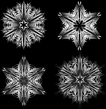 black and white pattern 01 vector