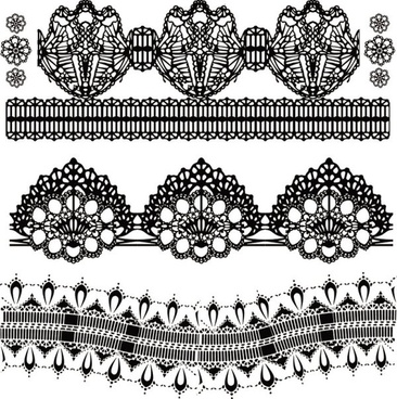 black and white patterns 01 vector