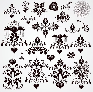 black and white patterns 02 vector