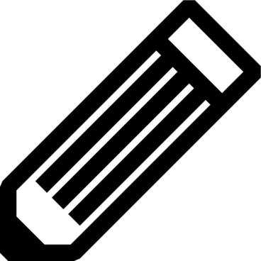 Black And White Pencil clip art