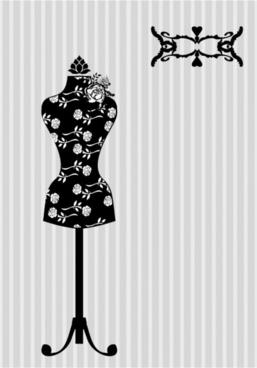black and white silhouette hanger model 01 vector