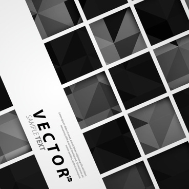black and white squares concept backgrounds vector