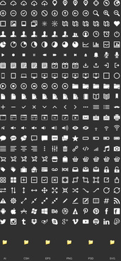 black and white web media icons vector