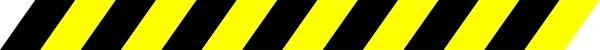 Black And Yellow Warning Stripe clip art