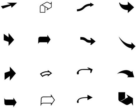 black arrow vector