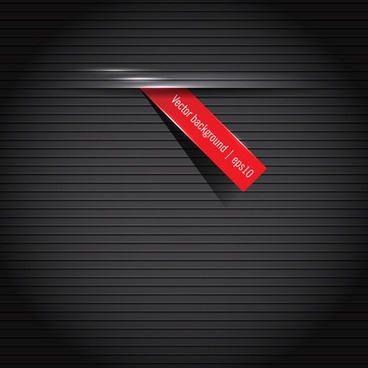 black background and red label vector