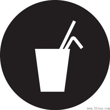 black background beverage icons vector