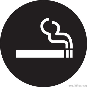 black background cigarette icons vector