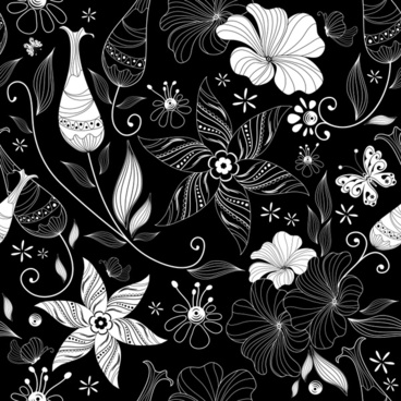 botany painting black white retro design handdrawn sketch