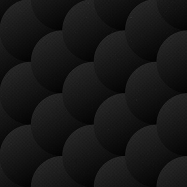 black balls vector seamless pattern