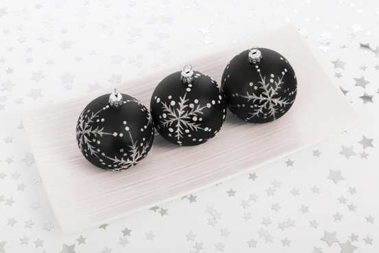 black bauble decorations