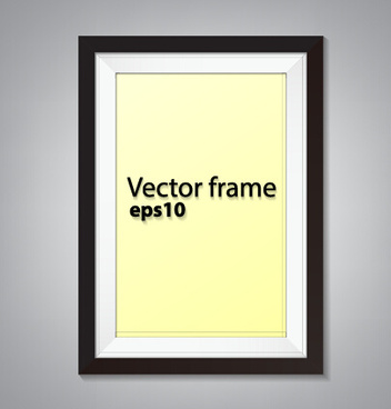 black border photo frame vector set