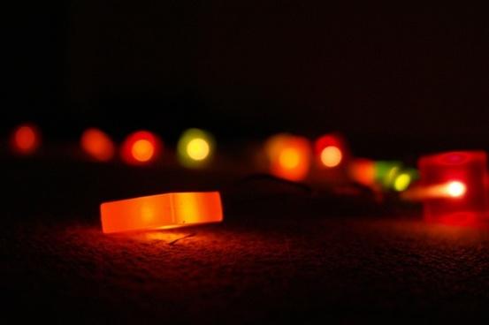 black colorful lichterkette